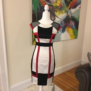 Jax Luxury Classy Evening Dress Red White Black